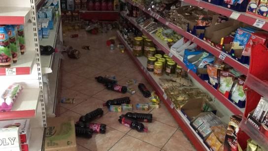 Çanakkale'de ki deprem anı güvenlik kamerasında