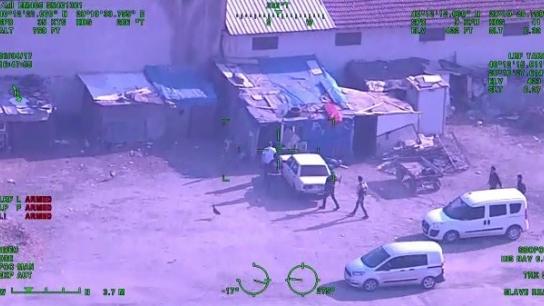 Bursa'daki dev uyuşturucu operasyonu helikopter kamerasında