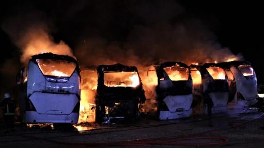 Bursa'daki yangının boyutu gün ağarınca ortaya çıktı