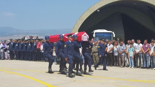 Bursalı şehidin cenazesi Yenişehir'e geldi