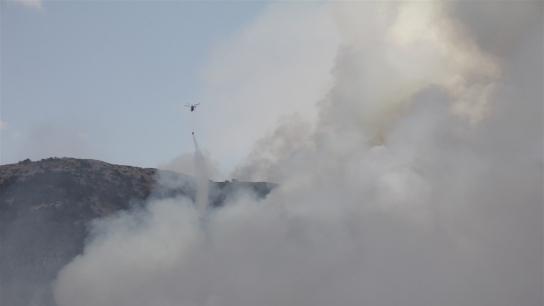 Kütahya'da orman yangını hala söndürülemedi