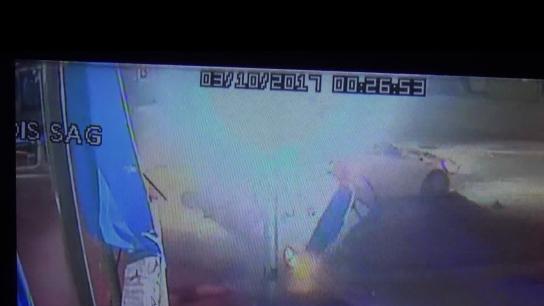Ankara yolundaki feci kaza güvenlik kamerasında