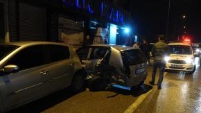 Bursa'da zincirleme trafik kazası! 9 araç birbirine girdi