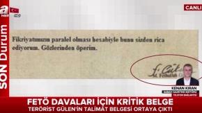 FETÖ davaları için kritik belge!