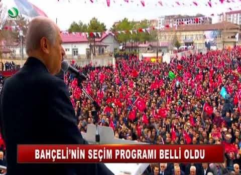 BAHÇELİ'NİN SEÇİM PROGRAMI BELLİ OLDU