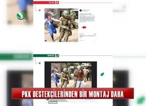 PKK destekçilerinden bir montaj daha