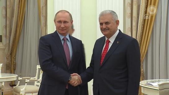 Putin ile Yıldırım'ın görüşmesi sona erdi