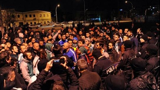 Bursasporlu futbolculara yapılan saldırının görüntüleri