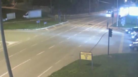 Bursa'daki trafik kazaları MOBESE kameralarında