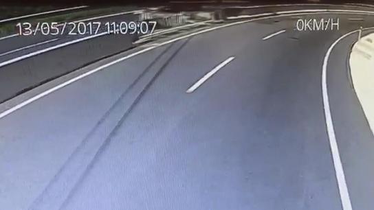 Muğla'daki kazanın araç kamerası görüntülerine ulaşıldı