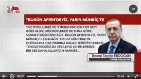 Cumhurbaşkanı Eroğan'dan Afrin harekatı mesajı