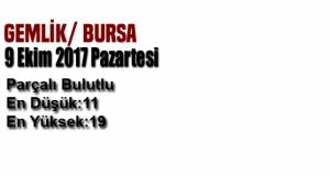 Bursa'da bugün hava durumu nasıl olacak?