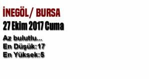 Bursa'da bugün hava durumu nasıl olacak? (27 Ekim 2017 Cuma)