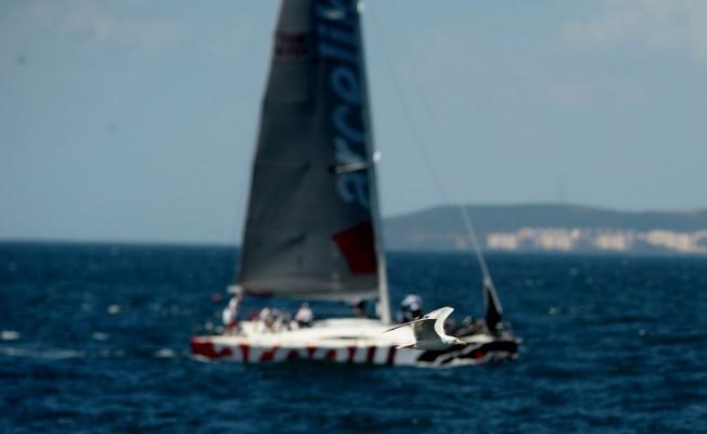 İstanbul'dan başlayıp Bursa'da devam eden yelken yarışları nefes kesti