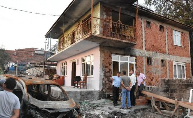 Keskin'den evi yanan aileye ziyaret