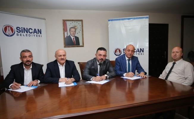 Sincan Belediyesi ve Hizmet İş Sendikası arasında toplu iş sözleşmesi imzalandı