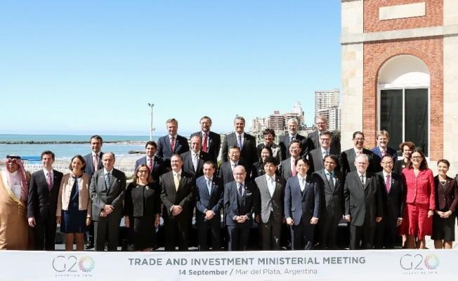 """Bakan Pekcan Arjantin'de """"G20 Ticaret ve Yatırım Bakanları Toplantısı""""na katıldı"""