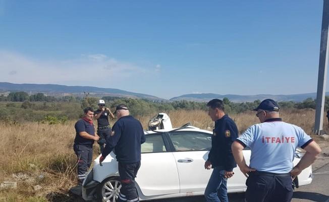 Bolu'da kamyonla otomobil çarpıştı: 2 yaralı