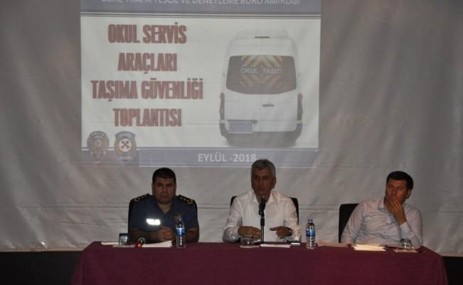 Cizre'de eğitim dönemi taşıma güvenliği toplantısı