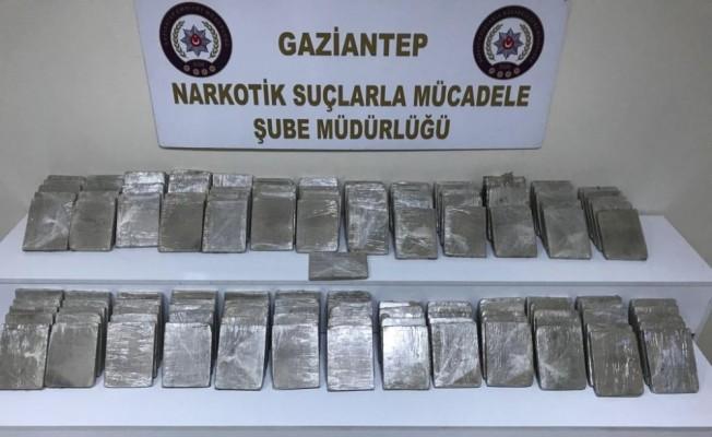 Bir ülke 7 ilden geçen eroin yüklü tır, Gaziantep'te yakalandı