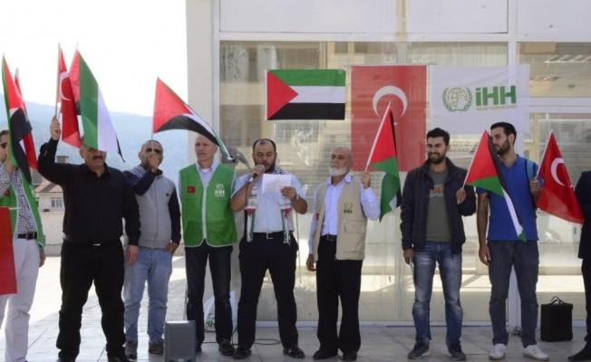 Karabük'te İsrail protesto edildi