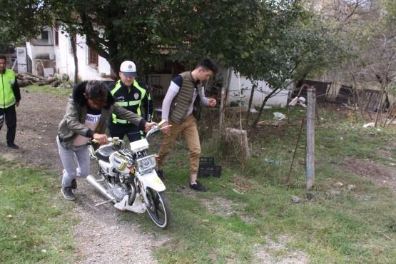 Motosikletle tehlike saçan sürücülere ceza yağdı