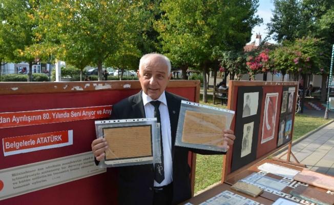 Ortaca'da Atatürk'ün gönderdiği telgraflar sergilendi