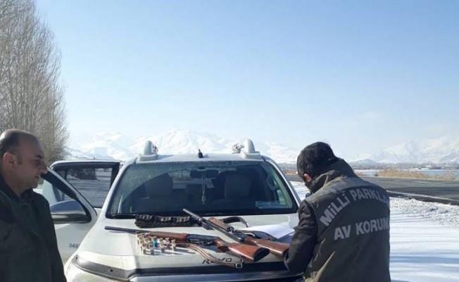 Dkmp ekiplerinin hafta sonu kaçak avcı mesaisi