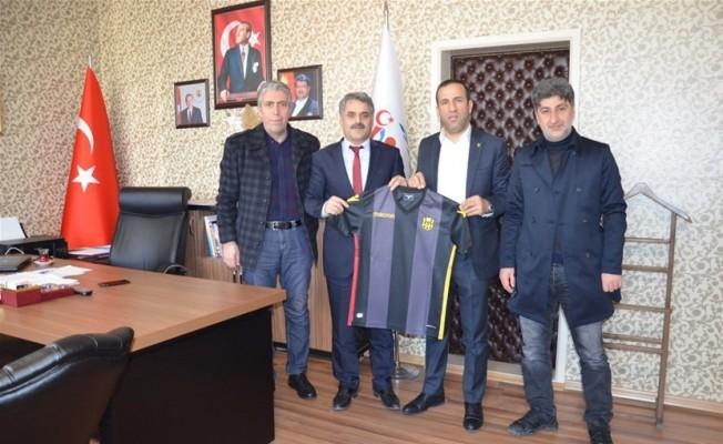 E.Yeni Malatyaspor'dan görevine yeni başlayan il müdürüne ziyaret