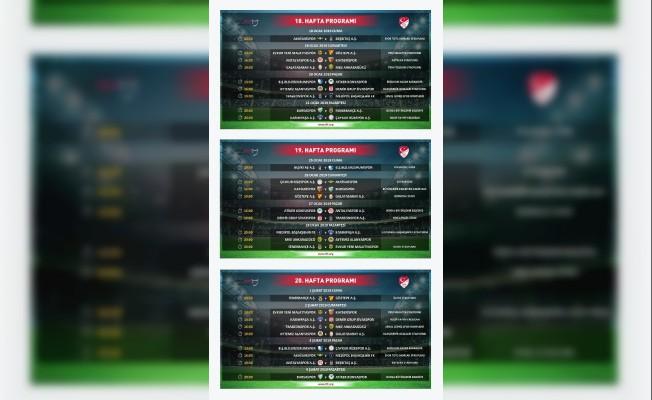 Süper Lig'de ikinci yarının ilk üç haftalık program açıklandı