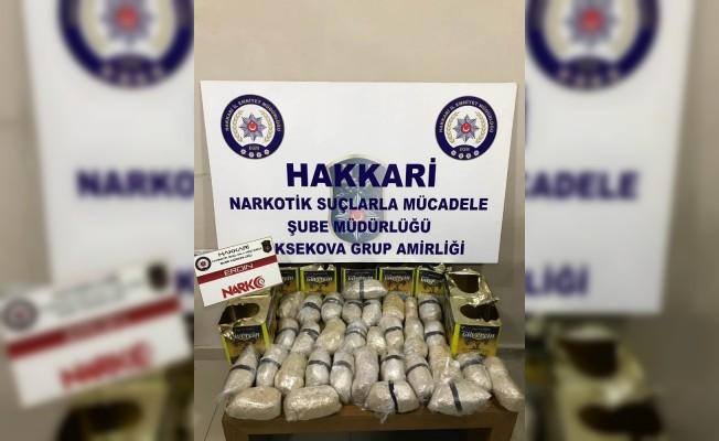Zeytin tenekelerinin içerisine 15 kilo 929 gram eroin ele geçirildi