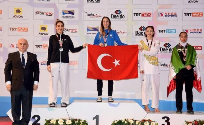 Meram Belediyesporlu tekvandocu Türkiye'nin gururu oldu