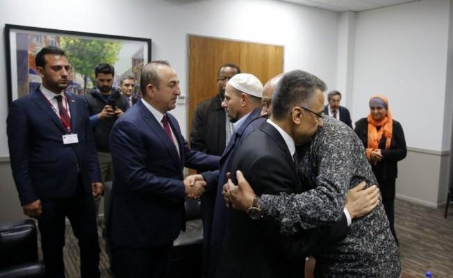 Okay ve Çavuşoğlu, Yeni Zelanda İslam Dernekleri Federasyonu üyeleriyle görüştü