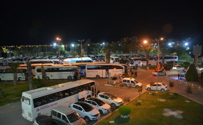 Aliağa'dan Çanakkale'ye dördüncü kafile uğurlandı