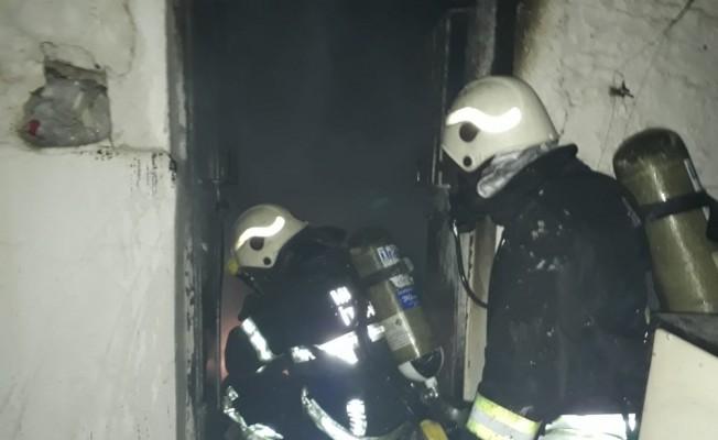 Bodrum'da taş evde çıkan yangın korkuttu