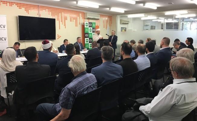 """Diyanet İşleri Başkanı Erbaş, """"Victoria İslam Konseyi'ni"""" ziyaret etti"""