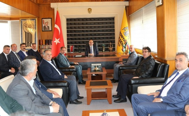 Esnaf odalarından Başkan Altay'a ziyaret