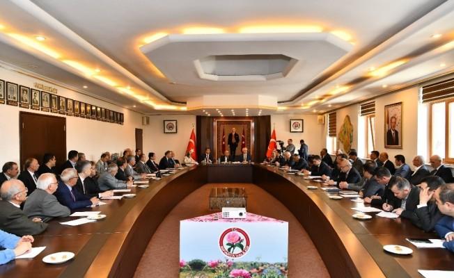 Isparta'da seçim sonrası ilk muhtarlar toplantısı