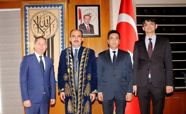 Özbek heyetten Başkan Altay'a ziyaret