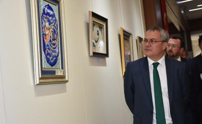 Vali Deniz, Klasik Türk Sanatları sergisi açılışına katıldı