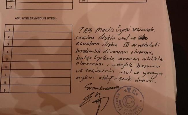 Ercan Korkmaz'dan TBB meclis üye seçimine itiraz
