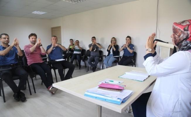 KO-MEK'ten polis memurlarına işaret dili eğitimi