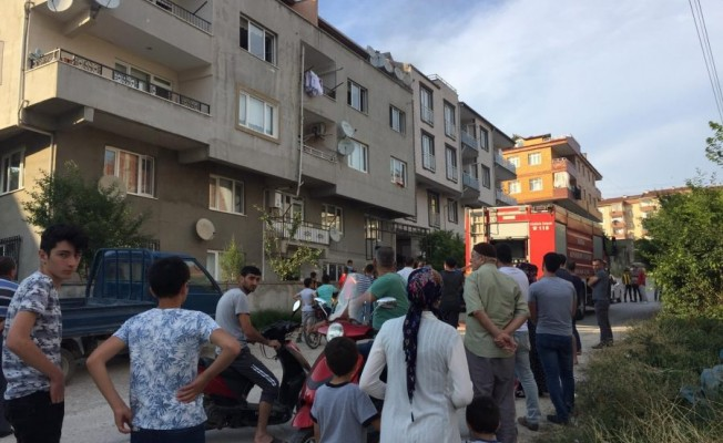 Bursa'da çamaşır makinesi bomba gibi patladı