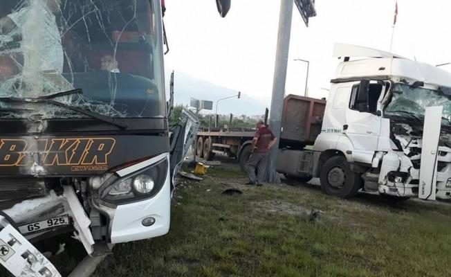 Hatay'daki trafik kazası ucuz atlatıldı