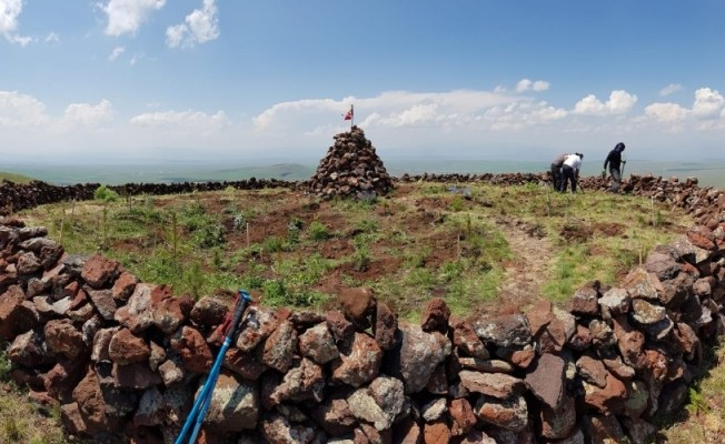 Karslı dağcılar, Yahni Dağı'na 90 fidan dikti