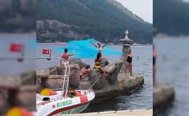 Marmaris'te turistler şok oldu