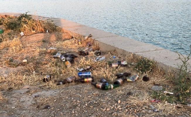 Vatandaşlardan piknik alanındaki içki şişelerine tepki