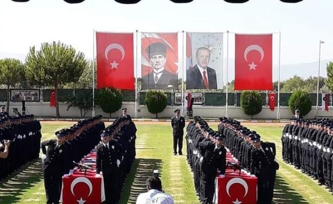Aydın MHP, çiçeği burnunda polislere başarı diledi