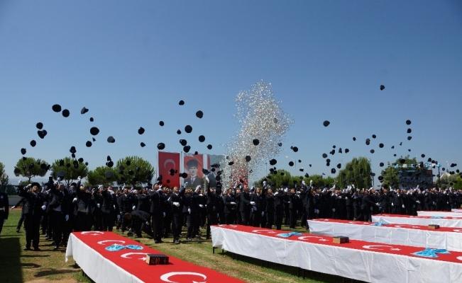 Aydın POMEM'de 459 polis adayı mezun oldu