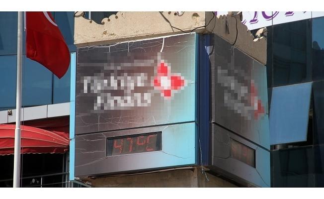 Elazığ'da termometreler 47 dereceyi gösterdi